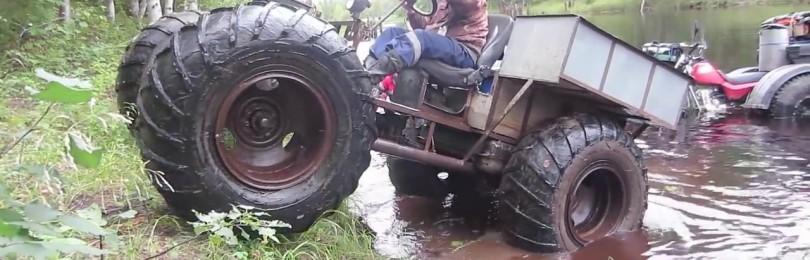 Самодельный вездеход на шинах низкого давления