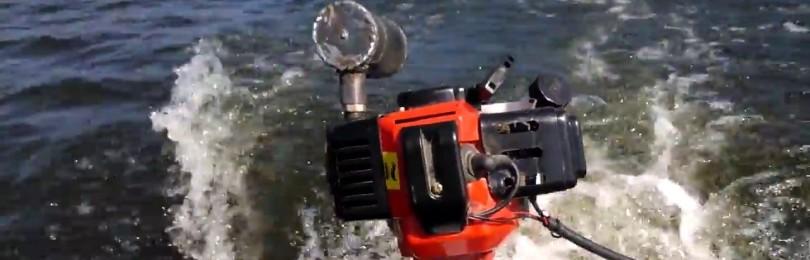 Лодочный мотор из триммера своими руками