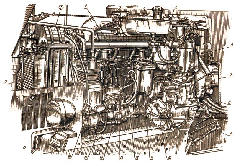 Двигатель Д-240 вид слева