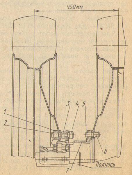 Схема установки сдвоенных шин
