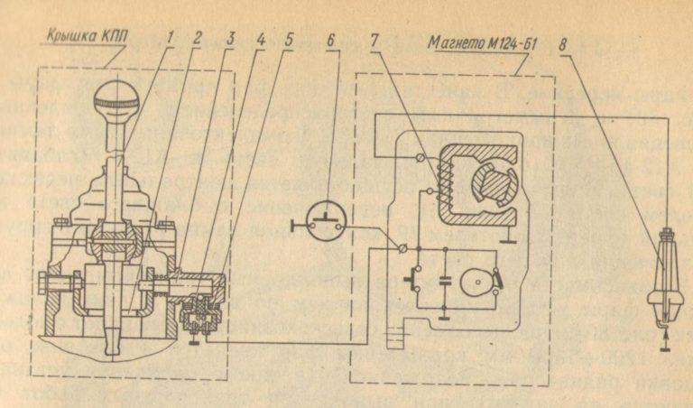 Схема блокировки запуска дизеля Д-240Л
