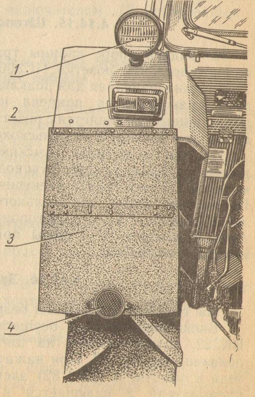 Расположение задних фар