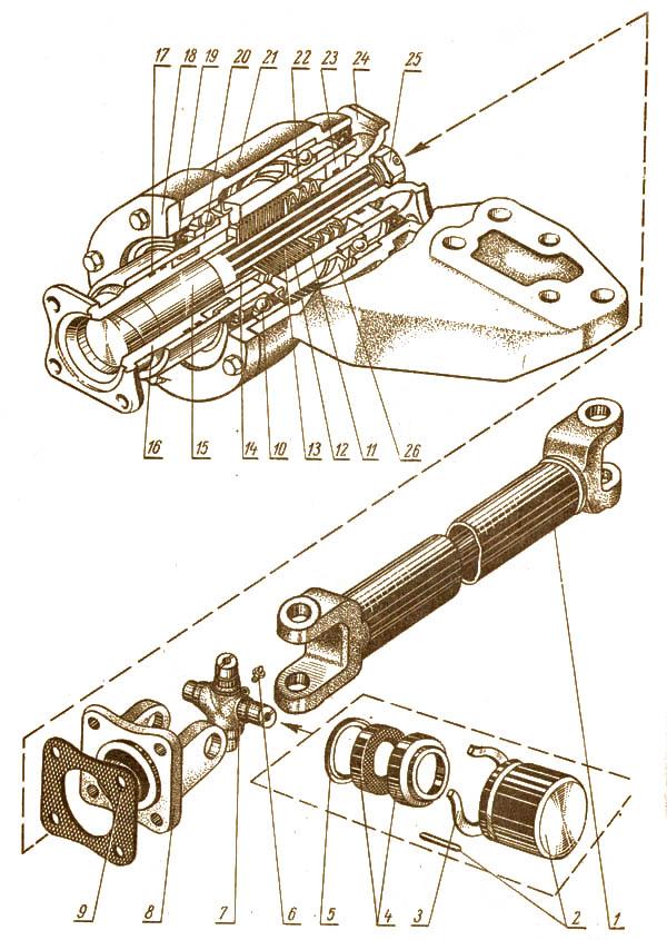 ПВМ карданный привод с промежуточной опорой