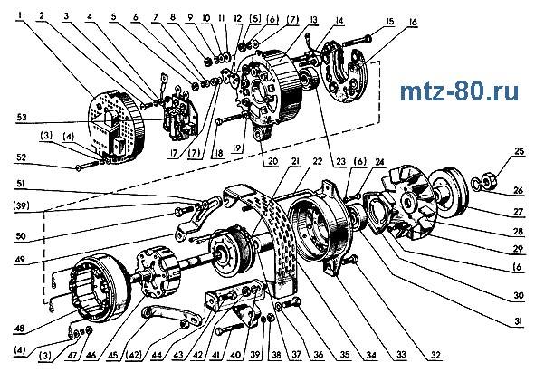 Детальная схема генератора Г306