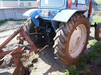 Трактор МТЗ с плугом