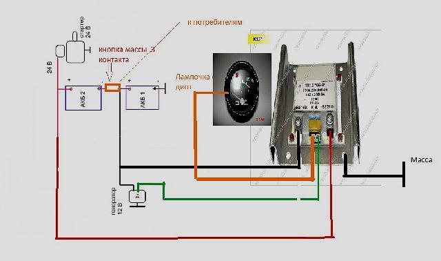 Схема подключения преобразователя для трактора МТЗ