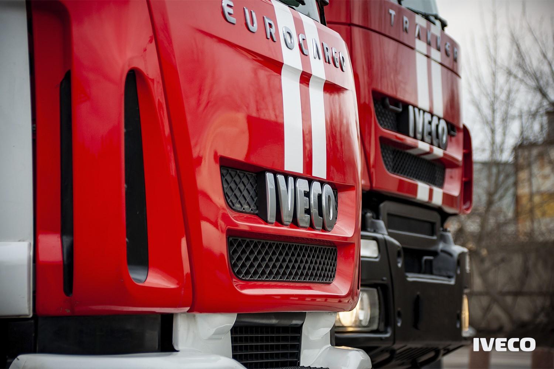 Перед пожарной машины IVECO